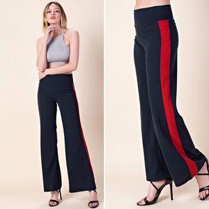 ✅NEW ARRIVAL➡️Navy Wide Leg Color-Block Pants